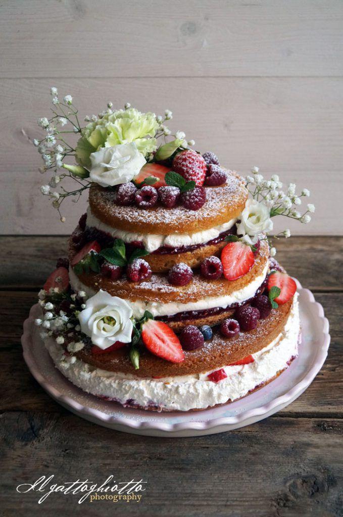 » Naked Cake ai frutti di bosco - Ricetta Naked Cake ai