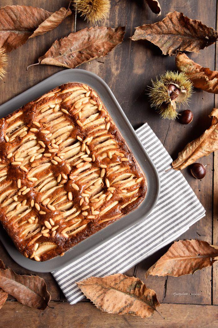 torta con farina di castagne pianta