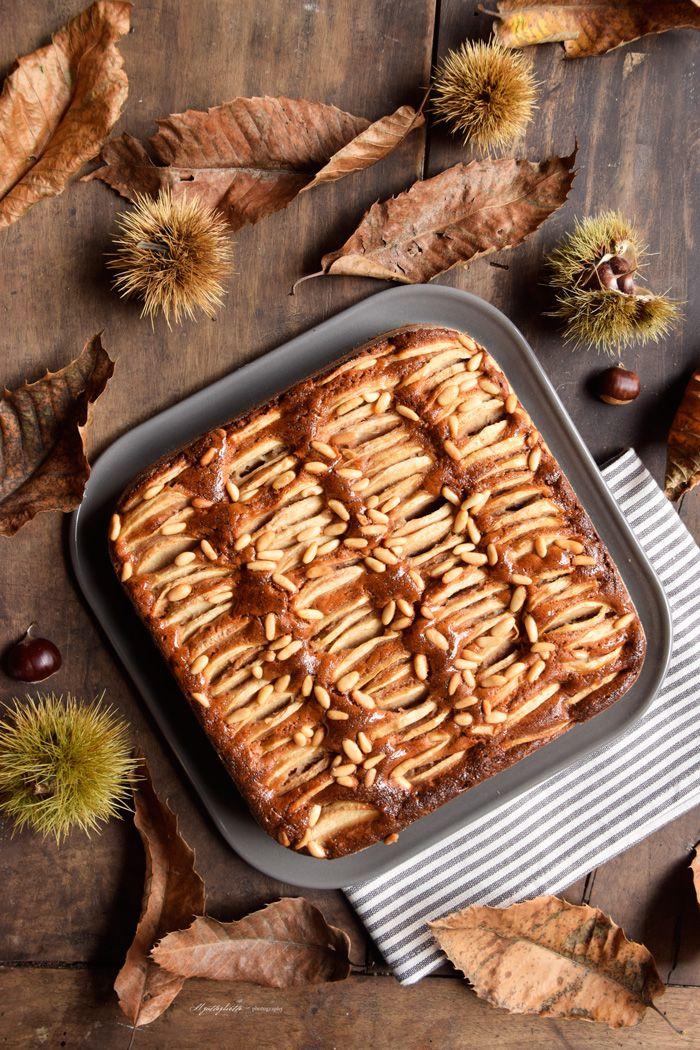 torta con farina di castagne pianta centrale