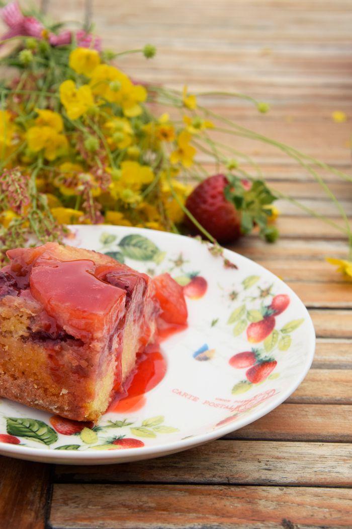 Torta-rovesciata-alle-fragole