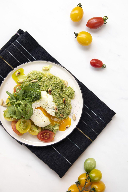 Quinoa con pesto di rucola