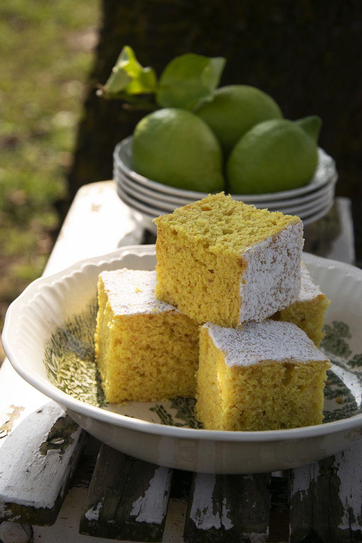Torta limone e curcuma