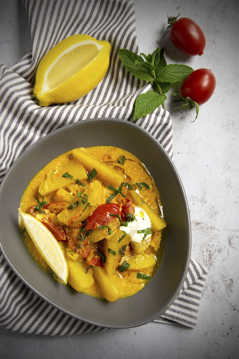 Patate al curry