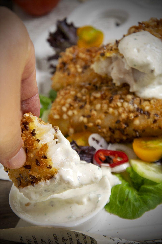 Pesce croccante con salsa tartara