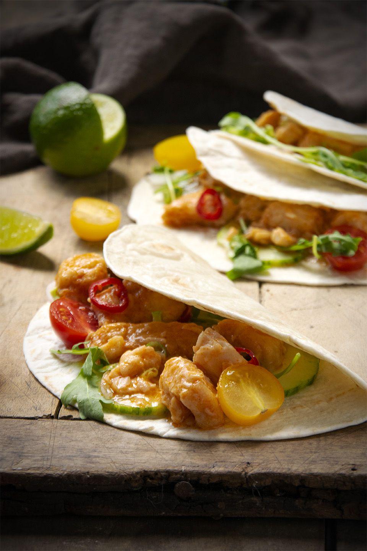 Tacos di pesce e verdure
