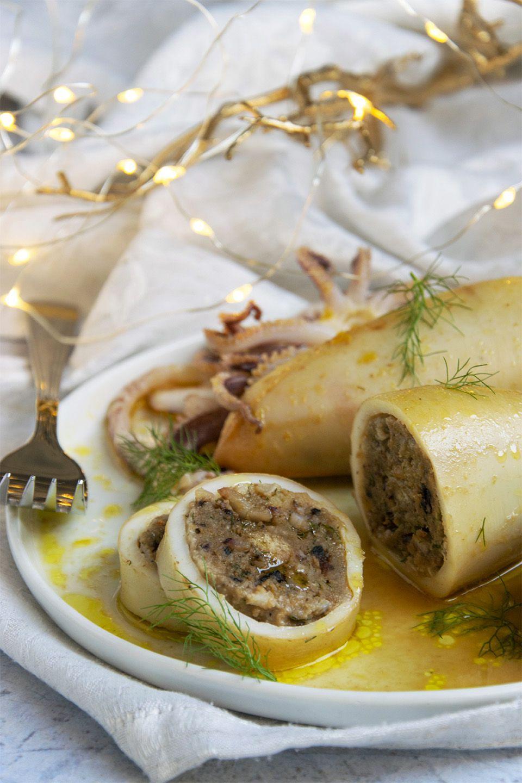 Calamari ripieni con olive