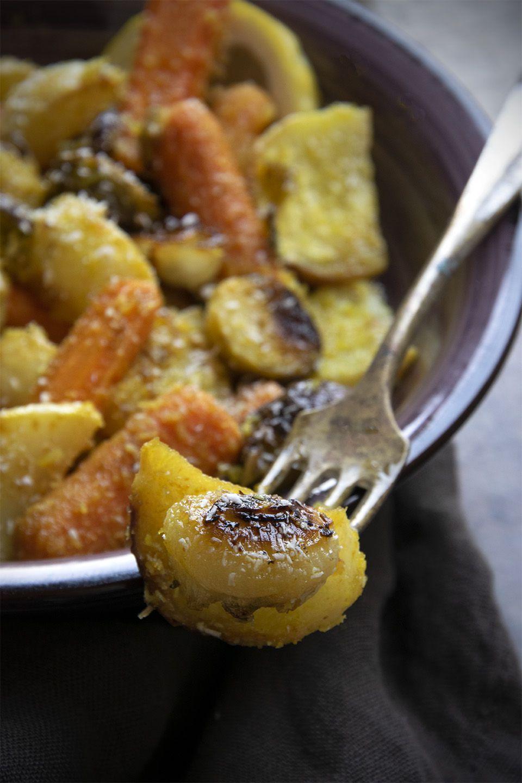 Verdure al forno con spezie e cocco
