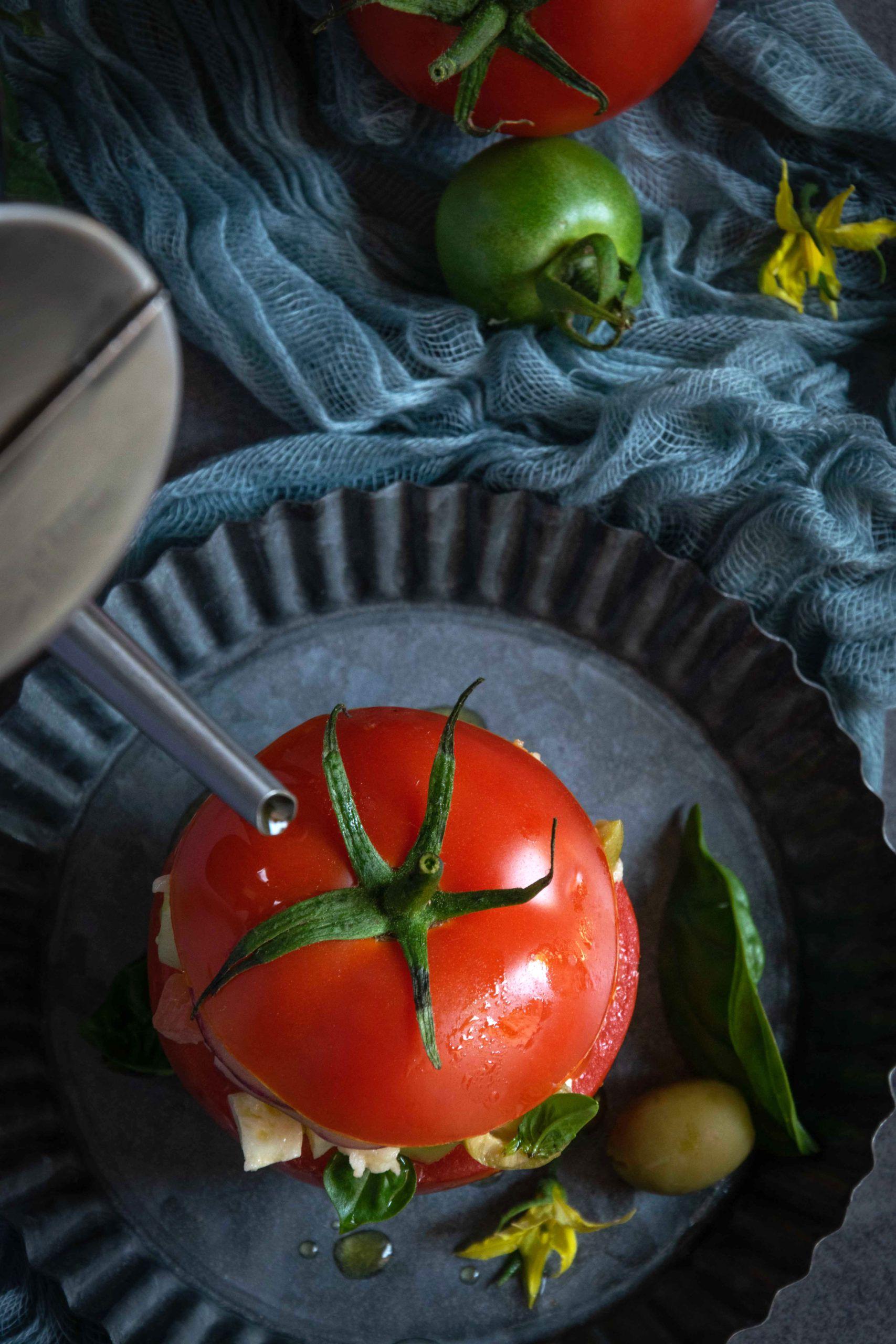 Pomodori ripieni di panzanell