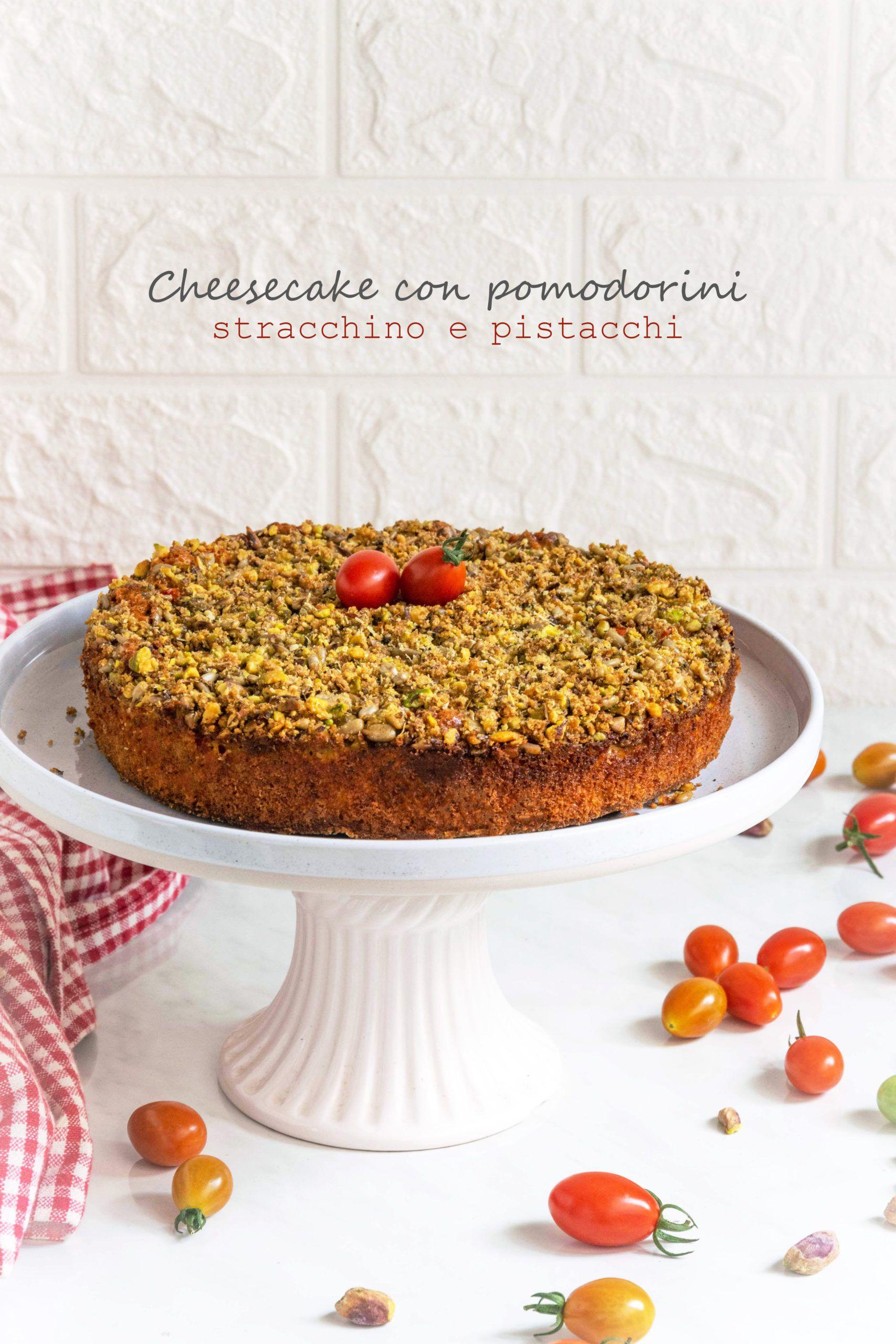 Cheesecake con pomodorini