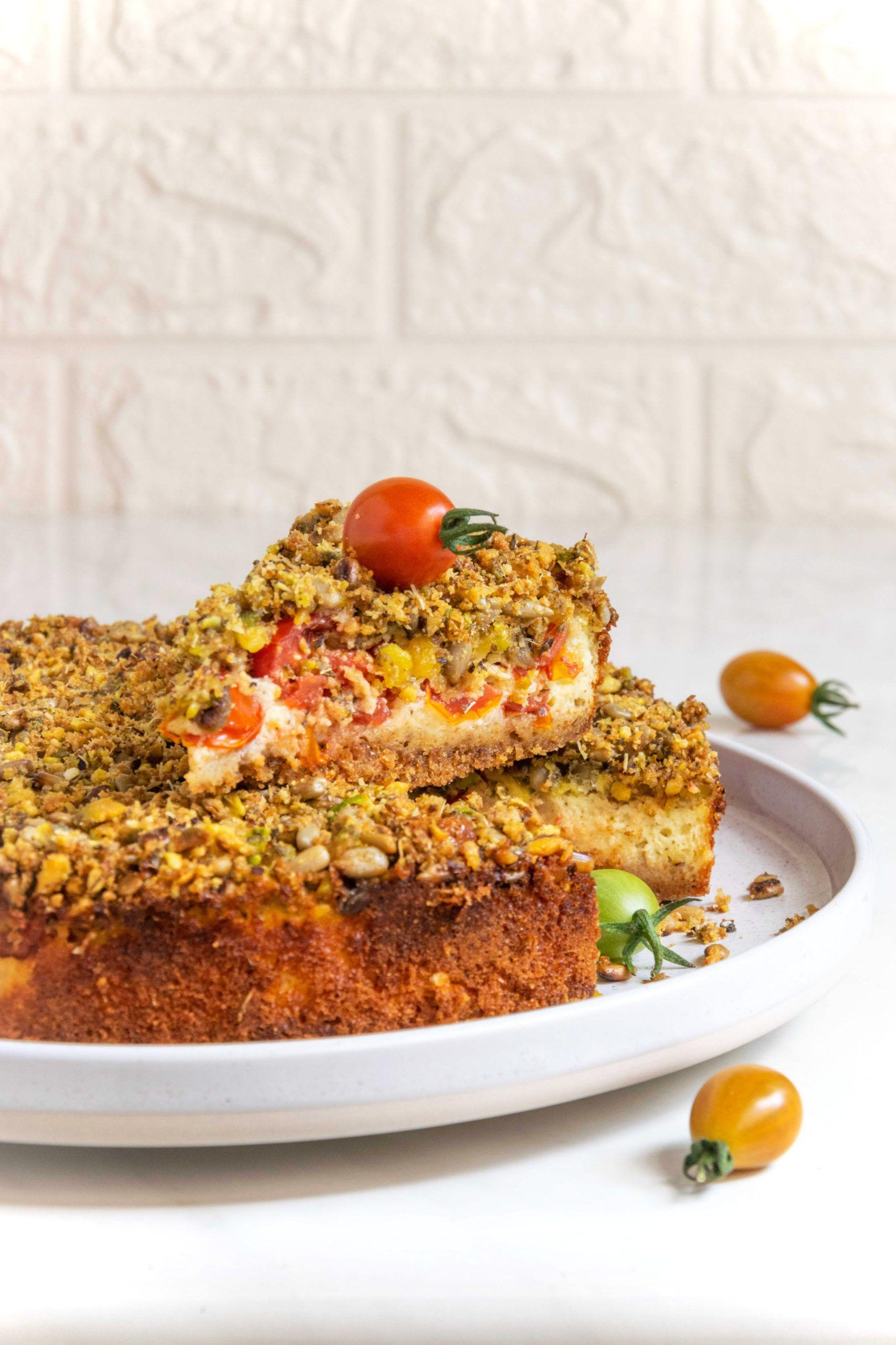 Cheesecake con pomodorini e stracchino