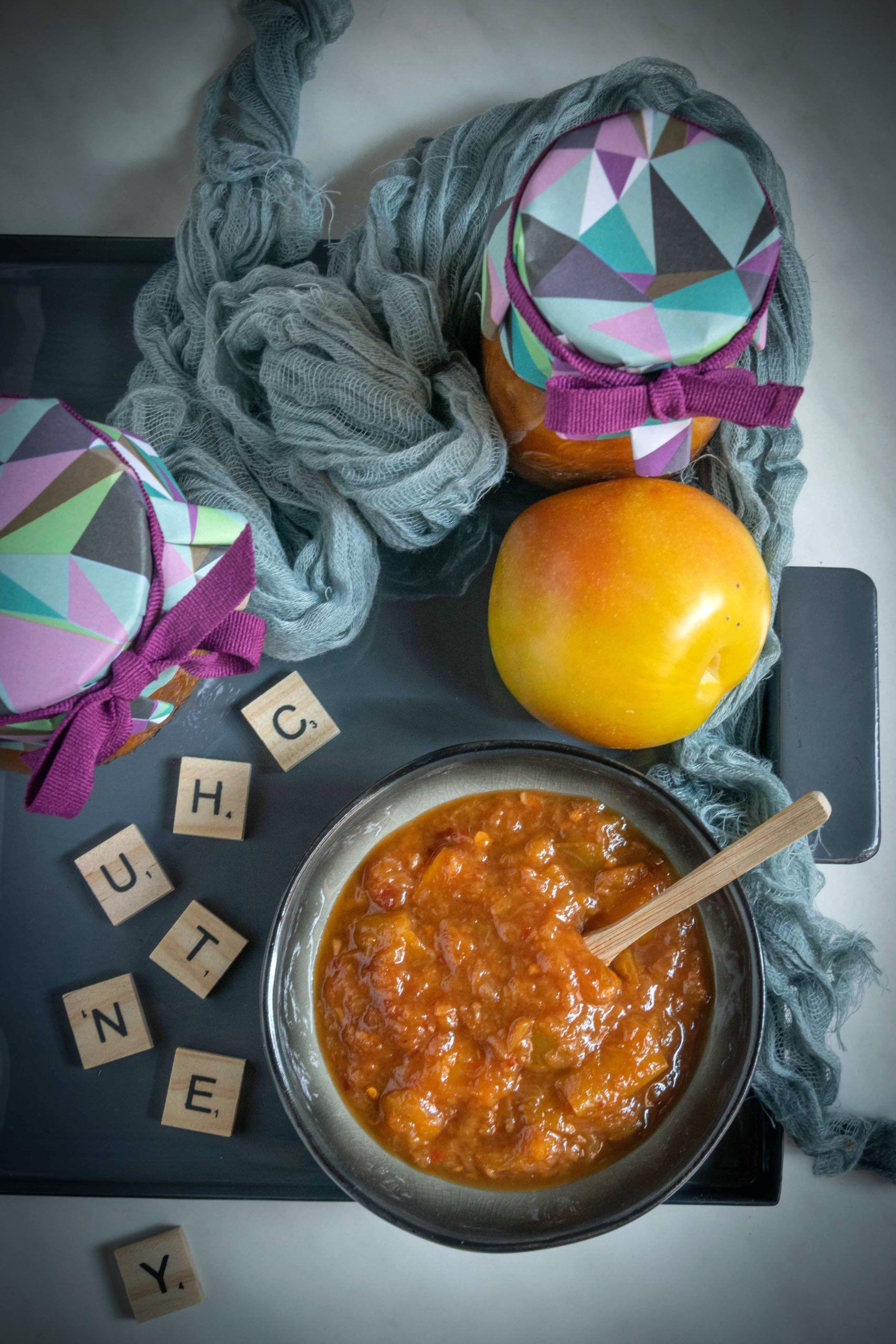 Chutney di peperoni e prugne gialle